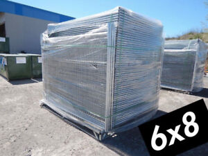 6x10 Temporary Fence Panels - Fast Fence Construction Steel Wire