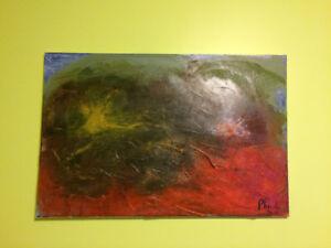 Tableau original abstrait 3' x 2' (peinture / oeuvre)
