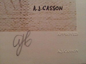 """A.J. Casson """"Sunday Morning"""" Lithograph - Appraised at $750 London Ontario image 4"""