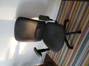 Grey and Black Office Chair