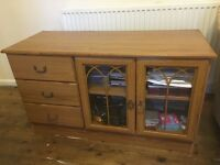 Tv cabinet with doors and draws