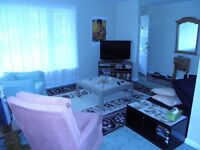 three furnished bedrooms available right now