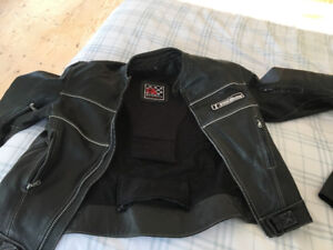 Men's XL leather motorcycle jacket