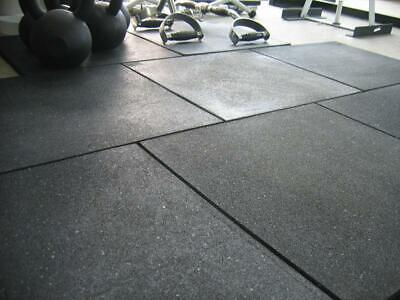 SuperSprung™️ Rubber Floor Tiles for Gym and Workout 20 mm Thick, Black