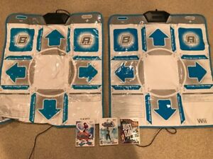 Wii Just Dance 2 mats, 3 games