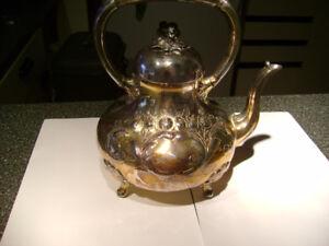 Beautiful white brass coffee/tea pot.