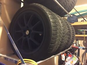 225/50R17 Bridgestone Blizzaks WS70 on rims
