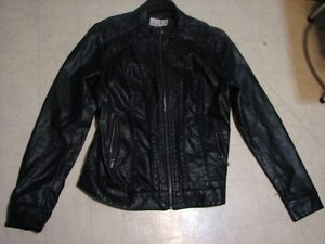 womens imitation leather jacket chloe brand $25.00