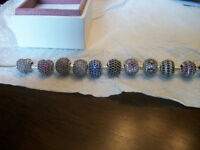 New Authentic Pandora  Pave Balls or Hearts