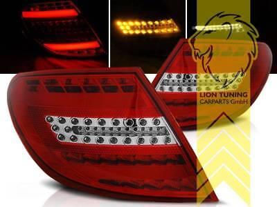Light Bar LED Rückleuchten für Mercedes Benz W204 Limousine C-Klasse rot weiss