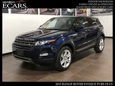 2015 Land Rover Evoque Pure Plus Blue on Tan Pano Roof Meridian Sound