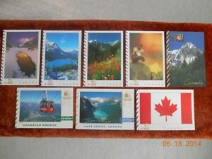 POSTAGE PAID CANADA POSTCARDS