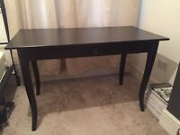 LEKSVIK Ikea black desk