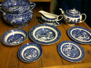New Blue Willow Johnson Brothers China