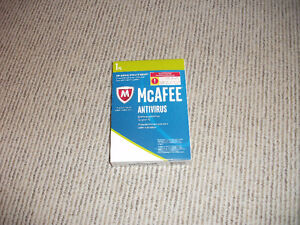 McAfee antivirus, never used, but open box.