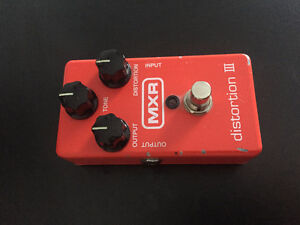 MXR M-115 Distortion III Guitar Pedal Used