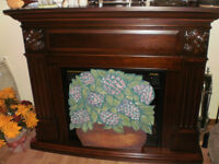 FIREPLACE PANEL...HAND PAINTED