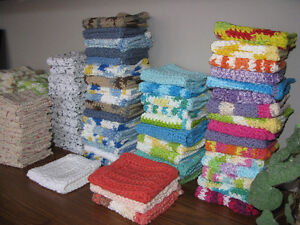 Handmade, 100% cotton dishcloths - Special 11 for $20