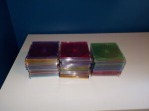 Lot of 68 clear colored CD cases in GOOD condition
