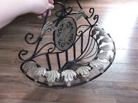 Decorative metal wall basket