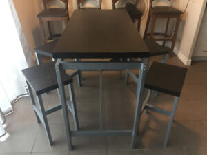 High Table Kitchen set w/ 4 Chairs