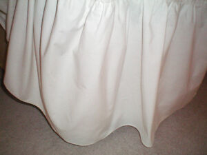 WHITE  TWIN BED SKIRTS  $10.00 FOR TWO