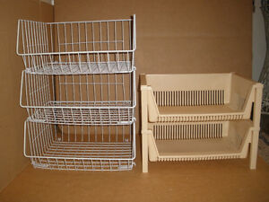 Two Sets of Stacking Bins