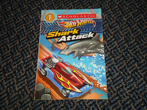 Scholastic Reader Level 1: Hot Wheels: Shark Attack Paperback Kingston Kingston Area image 1