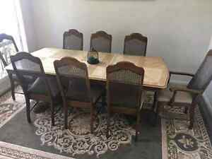 Dining Table with 8 chairs Vintage Broadmeadows Hume Area Preview