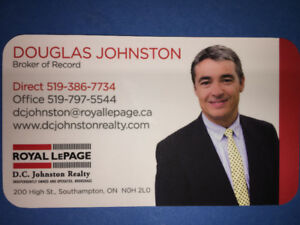 Looking to Buy A Home or Cottage in Grey or Bruce County