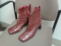 Hush Puppies - red leather boots