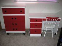 KIDS DRESSER & DESK AND CHAIR (REDUCED)