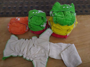 Cotton fitted diapers