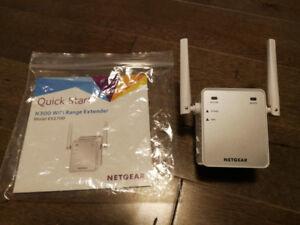 Prolongateur de portée Wi-Fi N300 de NETGEAR (Wi-Fi extender)