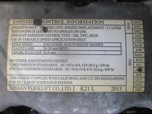 Nissan Engine 4 Cylinder with Propane Kit - from Nissan Forklift London Ontario image 3