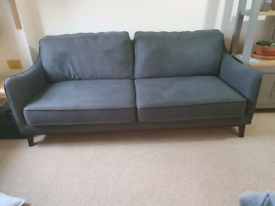 DUNELM Harrison 3 Seater Soft Grey Sofa