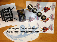 Sticker printing, vinyl and paper labels