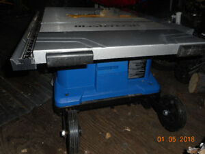 Mastercraft 10 in portable tablesaw
