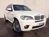 2012 BMW X5 3.0 TD xDrive 40d M Sport Automatic Diesel 5 Door SUV 4X4 in White