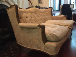 love seat couch french provincial