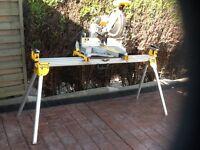 Dewalt cross cut saw and bench
