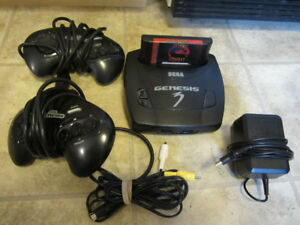 Sega Genesis 3 Console Complete w/ Mortal Kombat Game cartridge