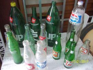 Vintage Glass Soda Pop Bottles - Plains City and more