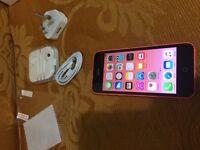 Apple iphone 5c pink 16gb Unlocked v good condition