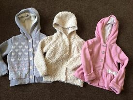 3x girls 1 1/2 - 2....18-24 months jackets coats cardigans