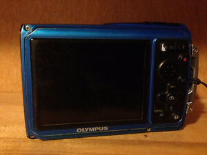 OLYMPUS Blue TG320 Camera with accessories Prince George British Columbia image 2