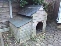 Dog Kennel Dog House + Wooden Storage Compartment