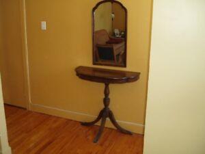 Table console avec miroir  (VINTAGE)