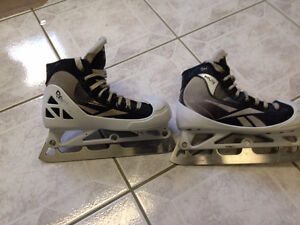 Reebook 5 k fitlite size 5 goalie skates with step steel blades