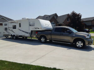 Toyota Tundra and 5th wheel RV Trailer